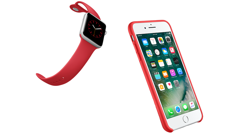 Joke with a pitcure of an Iphone and an Iwatch